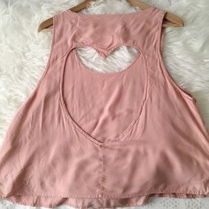 Pink Heart |Open Back| Top